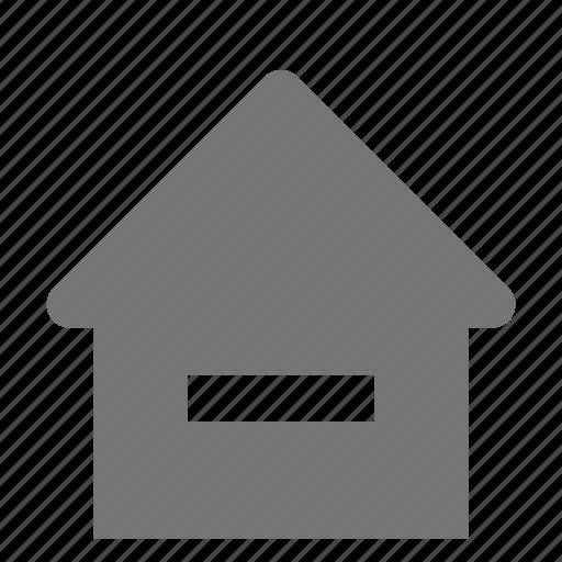home, house, minimize, minus icon
