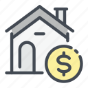 building, buy, coin, dollar, estate, house, real icon