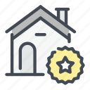 best, building, estate, favourite, house, real, star icon