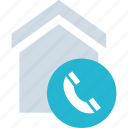 call, calling, dial, home icon
