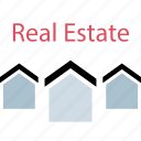 houses, realestate, value, zone icon