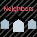 city, community, land, neighbors icon