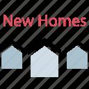homes, list, listing, new icon