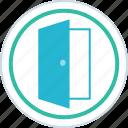 door, home, house, open icon