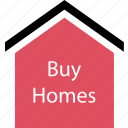 buy, homes, new icon