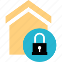 house, locked, safe, secured icon
