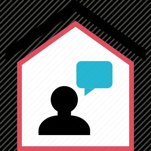 chat, conversation, homeowner, talk icon