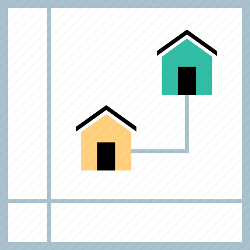 conneciton, connect, neighbors icon