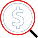 find, money, realestate, value icon