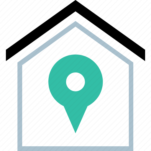 gps, home, pin, point icon
