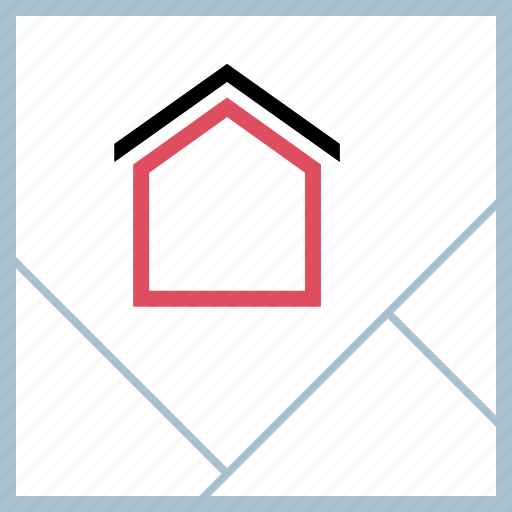 find, home, map icon
