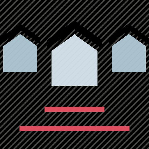 homes, houses, list, listing icon