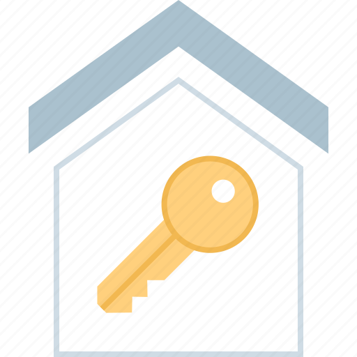 home, house, key, secured icon