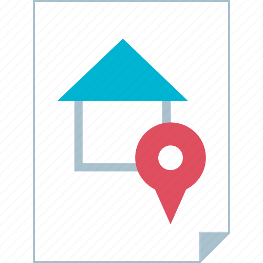 gps, page, paper, pin icon