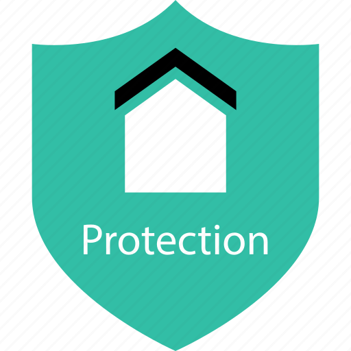home, protection, secured, shield icon