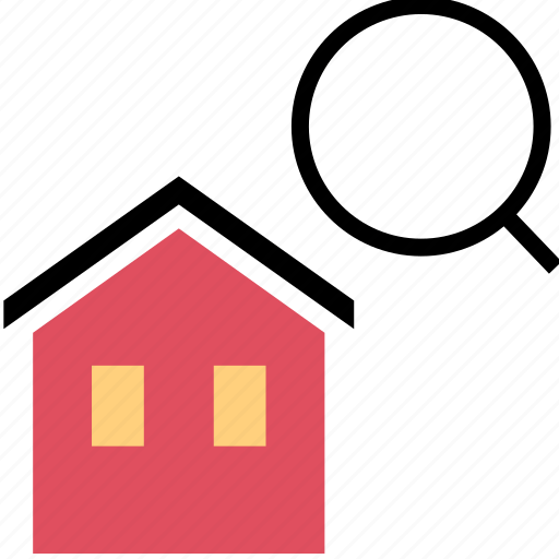 find, home, listing, search icon