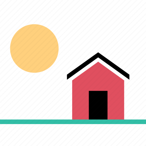home, house, summer, town icon