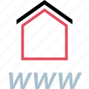 home, house, www icon