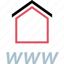 home, house, online, www icon
