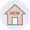 apartment, home, house, new, new house, property, real estate icon