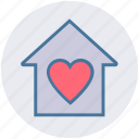 apartment, heart, home, house, property, real estate, sweet home