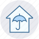 apartment, home, house, property, real estate, secure, umbrella