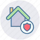 apartment, home, house, property, real estate, security, shield