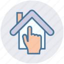 apartment, finger, hand, home, house, property, real estate