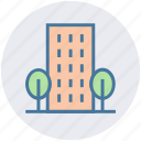 apartment, architecture, building, office, real estate, skyscraper, trees