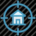 home, house, hunt, locate, property, seek, target