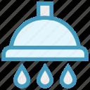 bath, bathroom, douche, drops, shower, wash, water icon