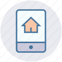 house picture, mobile, mobile display, mobile screen, online house purchase, smartphone icon