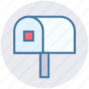 envelope, inbox, letter, postal mail, postal service, postbox, send icon