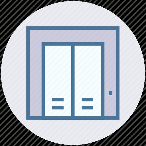 door, elevator, hotel, lift, service, travel, vacation icon