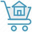 cart, concrete cart, construction, house, house cart, house in cart, real estate