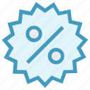 campaign, discount, discount badge, percentage, present, price discount, real estate icon