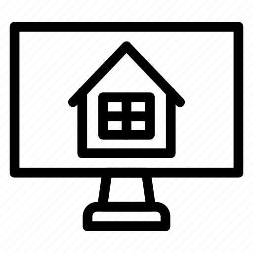 apartment, home, household, interior, searching icon