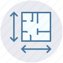 arrows, business presentation, easel, house, plan, presentation strategy icon