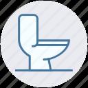 bathroom, bowl, pan, restroom, toiler, toilet bowl, washroom icon