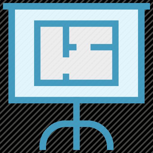 Board, business presentation, easel, plan, presentation board, strategy icon - Download on Iconfinder