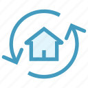 apartment, arrows, house, property, real, real estate, rotation