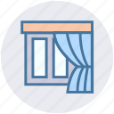 furniture, home window, indoor window, real estate, room window, window, window frame icon