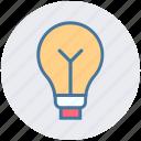 bright, bulb, creative, idea, lamp, light, light bulb icon