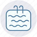 pool, swim, swimming, swimming pool, swimming staircase, water, waves icon