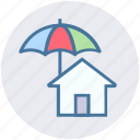 home, house, insurance, property, protection, real estate, umbrella