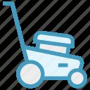 gardening, grass, green, lawnmower, machine, mowing icon