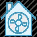 apartment, building, fan, house, property, ventilator cooler, ventilator fan icon