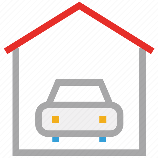 car porch, garage, house, porch icon