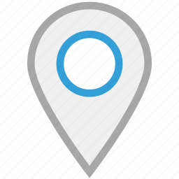 gps, location pin, locator, pin icon