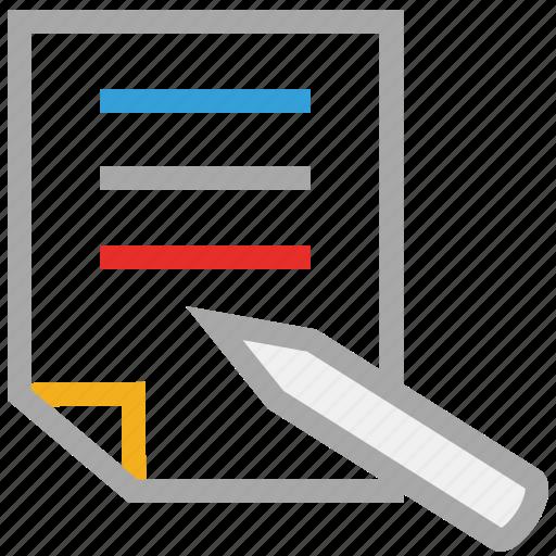 paper, pen, text, write icon
